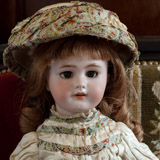 French DEP doll w/ dress Au Nain Bleu
