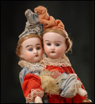 Rare German Twin Dolls Marotte