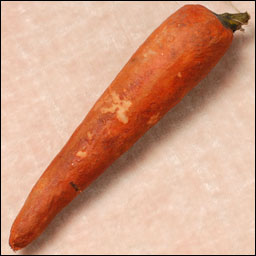 Antique Christmas ornament - cotton CARROT