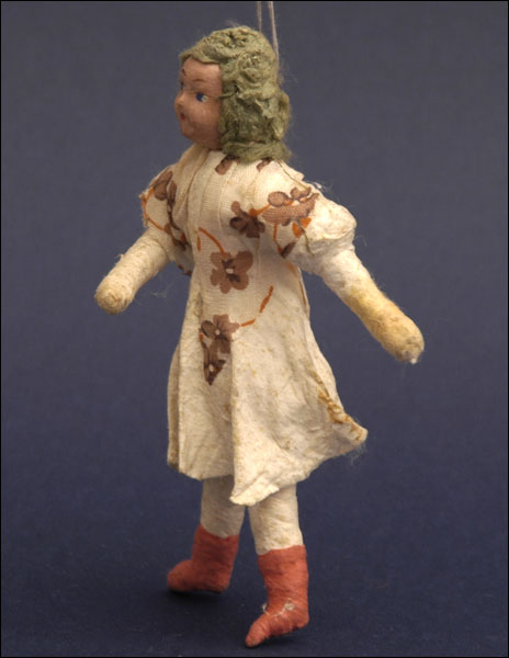 Antique Christmas ornament GIRL