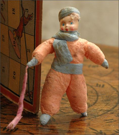 Antique Christmas ornament HOCKEY PLAYER