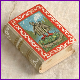 Antique Christmas Candy Container FAIRY TALES BOOK