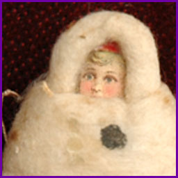 Antique German Christmas ornament BABY