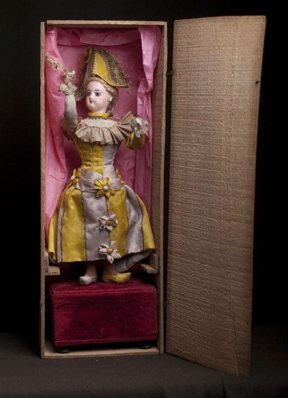 Очень редкий автомат Полишинель фирмы  Rambour, головка Gaultier, все оиргинальное, в родной деревянной коробке! 1890-е годы, Па