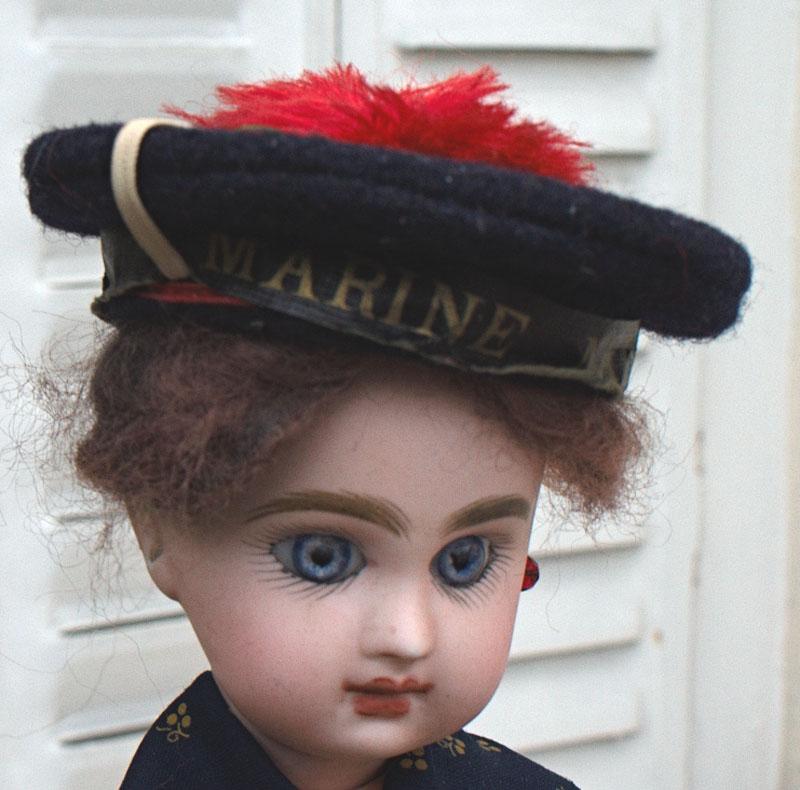 Оригинальный французский морской кукольный беретик