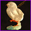 Antique DRESDEN Christmas ornament CHICK