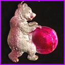 Old Dresden Christmas ornament CIRCUS BEAR