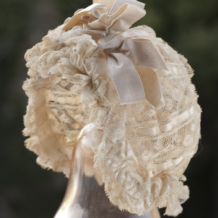 Antique French Lace Bonnet