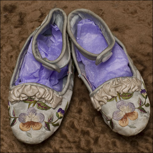 Original Embroidered Doll Shoes