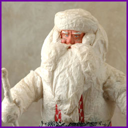 Antique Christmas cotton & paper mashe figure of SANTA