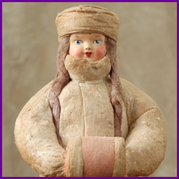 Antique Christmas cotton figure of SNOWGIRL