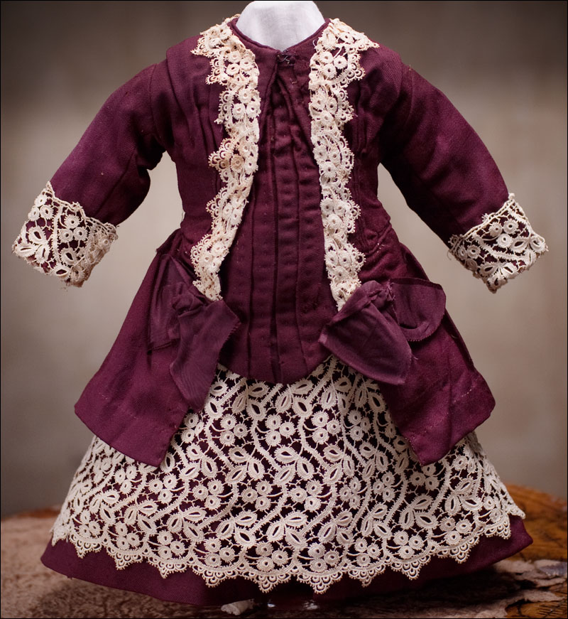 Antique Original  Maroon Costume -Reserverd for B.