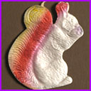 Vintage Christmas ornament SQUIRREL with NUT