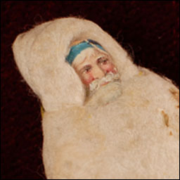 Antique German spun cotton Christmas ornament SANTA