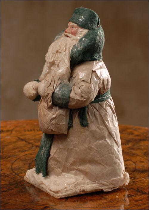 Antique Christmas cotton figure of Santa