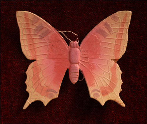 Antique Christmas Dresden ornament BUTTERFLY