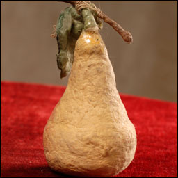 Antique Christmas ornament - cotton PEAR