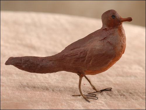 Antique Christmas ornament - cotton BIRD