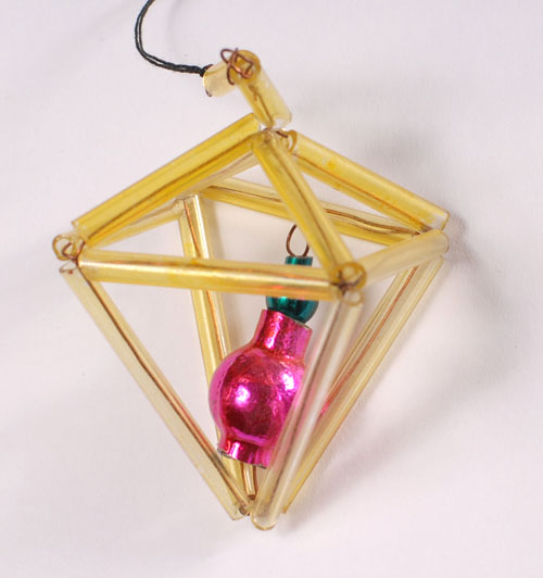 Antique beaded glass Christmas ornament PENDANT