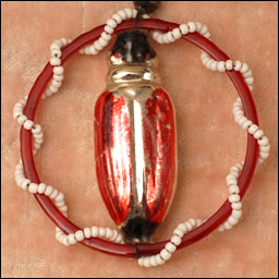 Antique Christmas ornament BEETLE