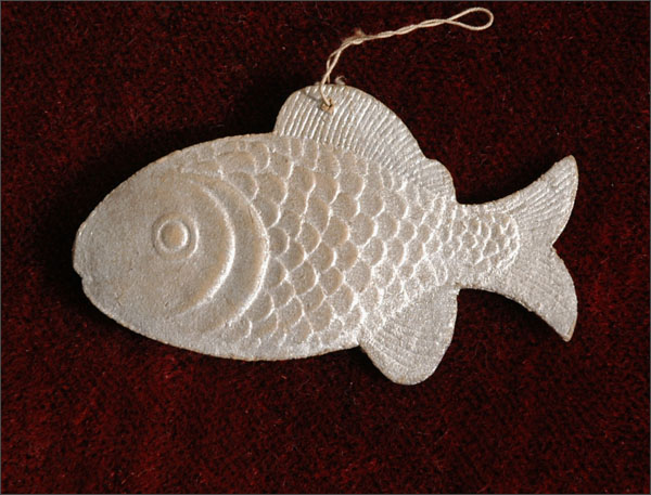 Antique Christmas ornament FISH