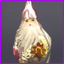 Vintage Christmas glass ornament KNIGHT