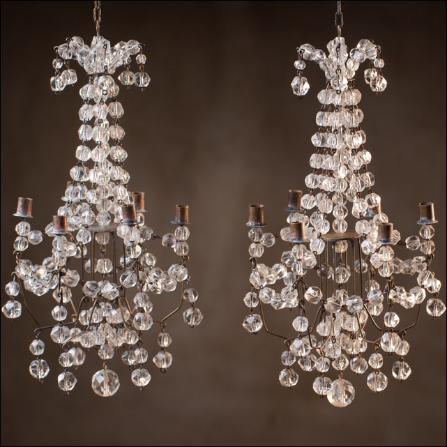 Antique PAIR Chandeliers for dolls