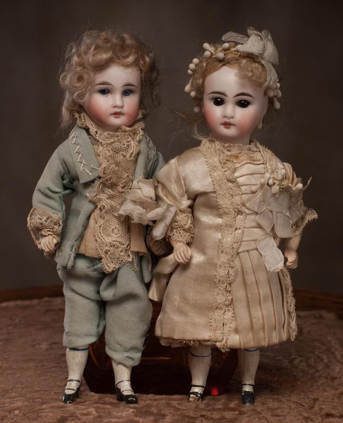2 куклы: Жених и Невеста, Франция, 1880г