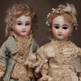 Antique French Bride & Groom Dolls