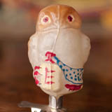 Antique Christmas ornament OWL WITH BOTTLE