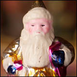 Antique Christmas ornament SANTA