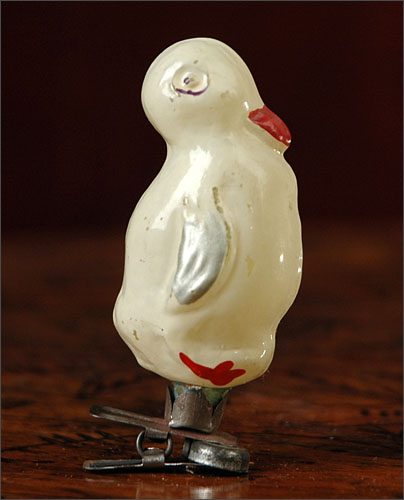 Old Christmas ornament DUCKLING