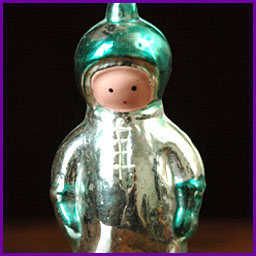 Antique Christmas ornament SPACEMAN