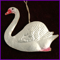 Antique Christmas ornament SWAN