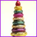 Vintage Christmas glass ornament CHRISTMAS TREE