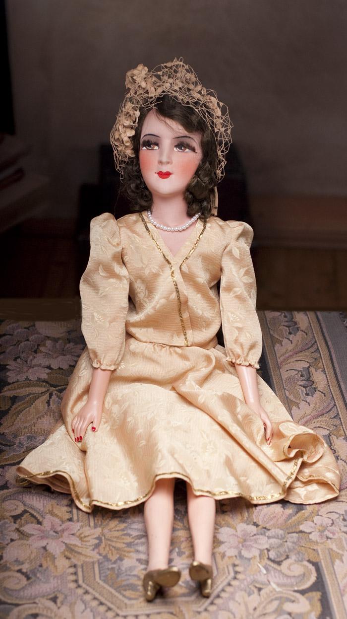 Будуарная/салонная кукла 1920-е годы, 71 см