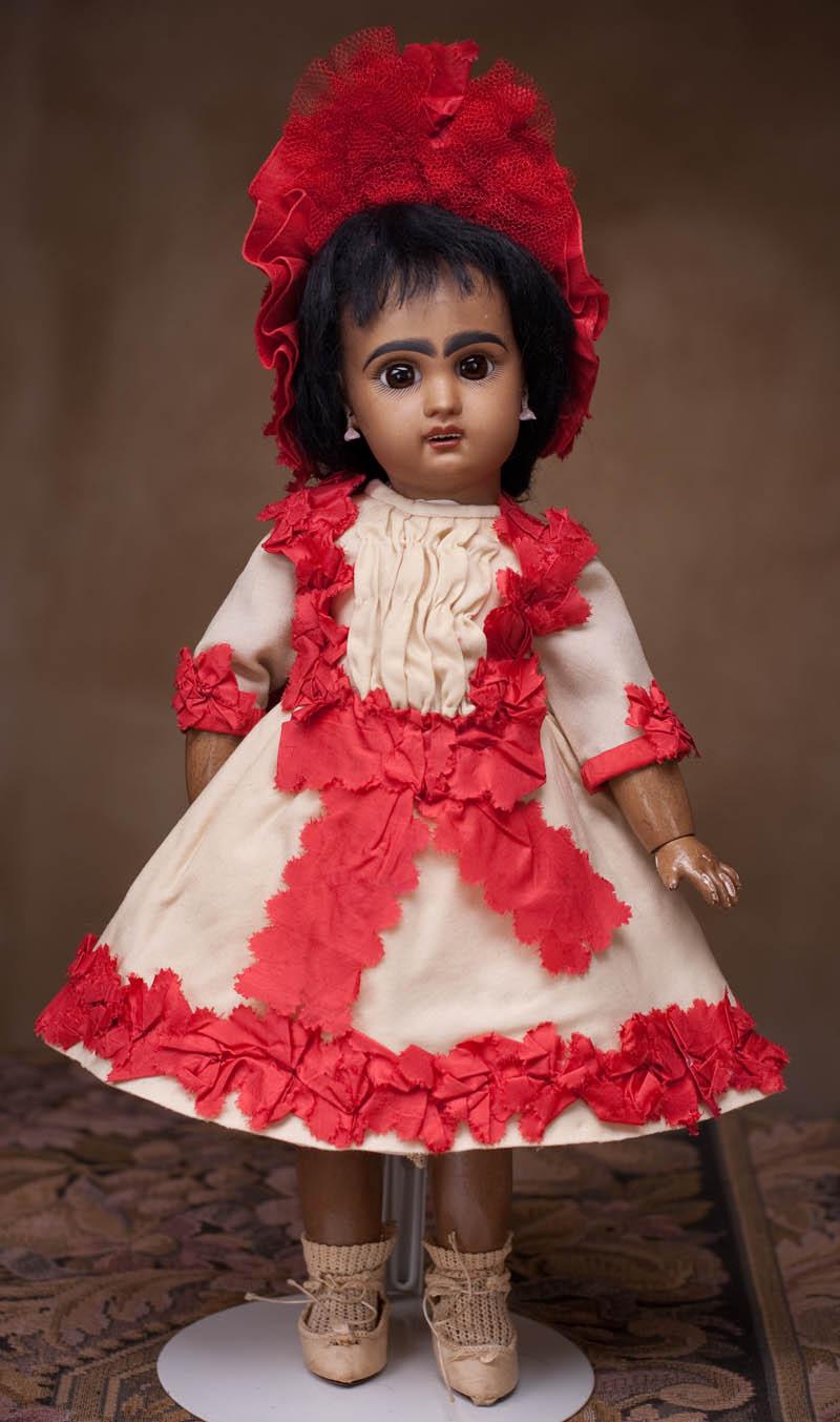 Очень редкая кукла Жюмо-мулатка 39 см