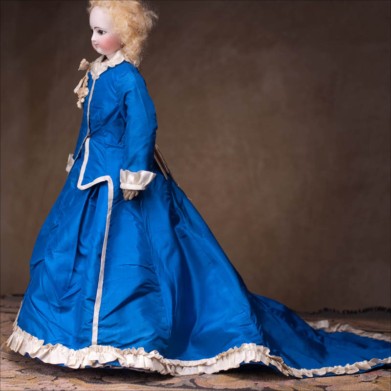Antique Blue Fashion Dress