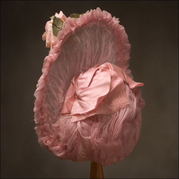 Pink Gauze Bonnet