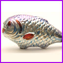 Antique CHRISTMAS glass ornament FISH