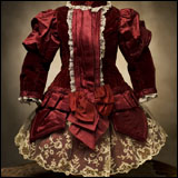 Maroon antique dress