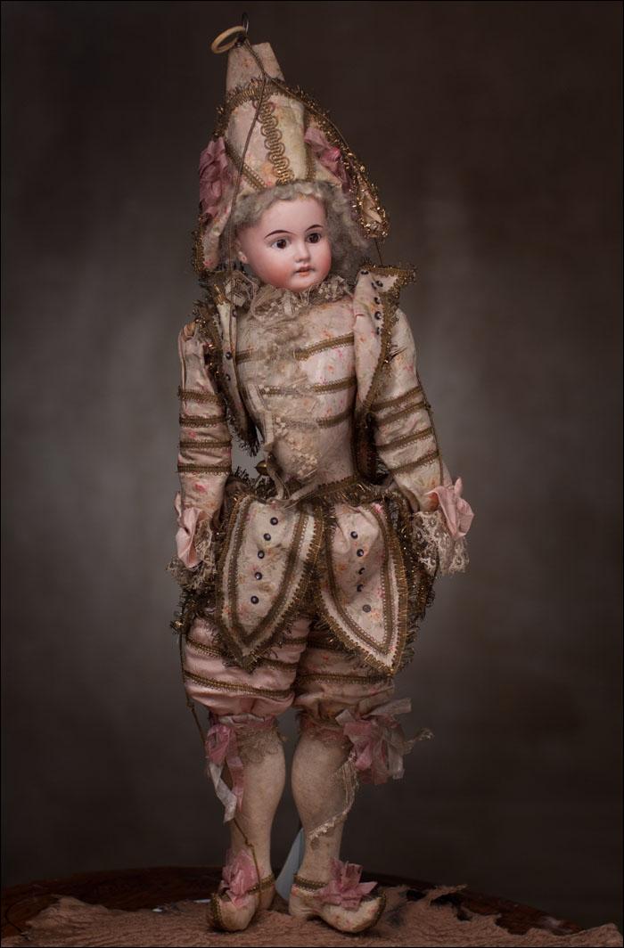 Кукла ПОЛИШИНЕЛЬ - Франция, фирма Henri Rostalб 1900 г.