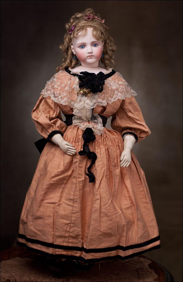 Редкая Портретная Модная кукла Emile Jumeau, 1875