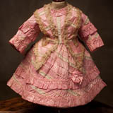 Antique French Rose Silk Dress