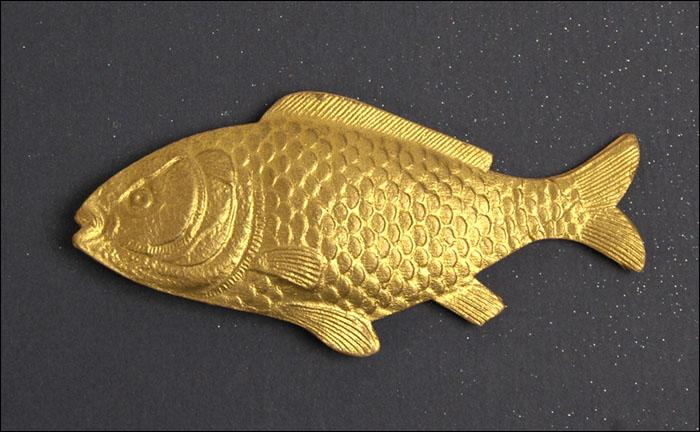 Antique Dresden Christmas ornament FISH