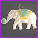 Old Dresden Christmas ornament CIRCUS ELEPHANT