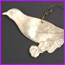 Antique Christmas ornament BIRD