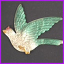 Old Dresden Christmas ornament FLYING PARROT