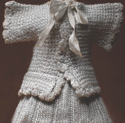 Knitted original dress