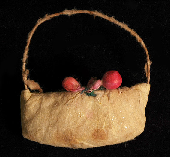 Antique German? Christmas cotton ornament BAG